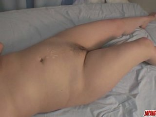 Sexy and naughty MILF pervert Nobue Kashima toying and banged hard