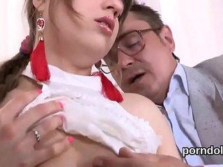 Sensual schoolgirl gets seduced and plowed by her older teacher