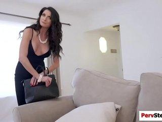 Horny stepson screwed her stepmoms pussy