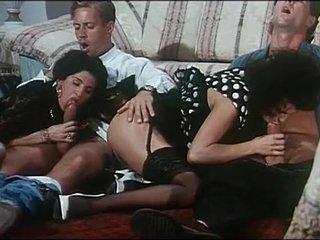 Italian vintage porn: hot foursome with Rocco Siffredi